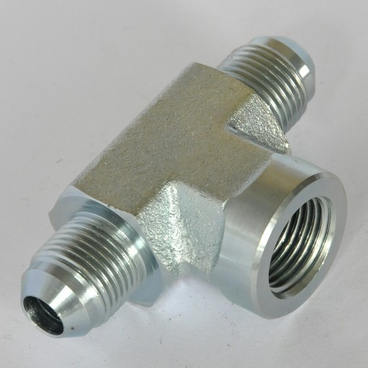 Female branch tee flare tube end pipe