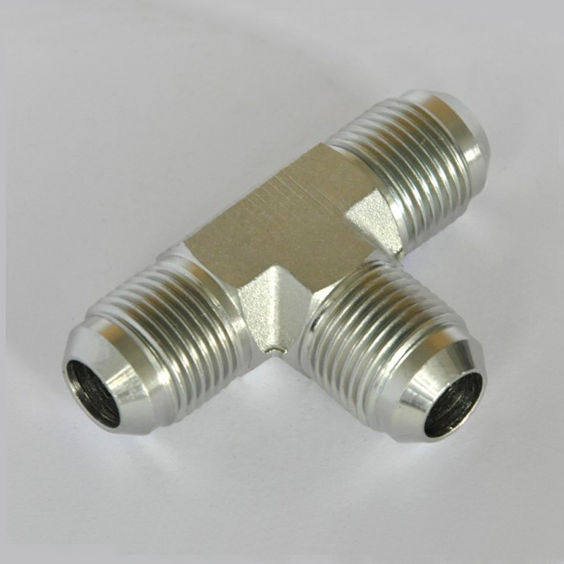 Union tee flare tube end all three ends sae