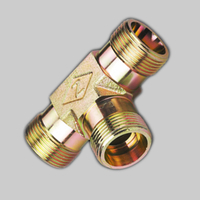 AC METRIC MALE 24°light type TEE oil hose fittings