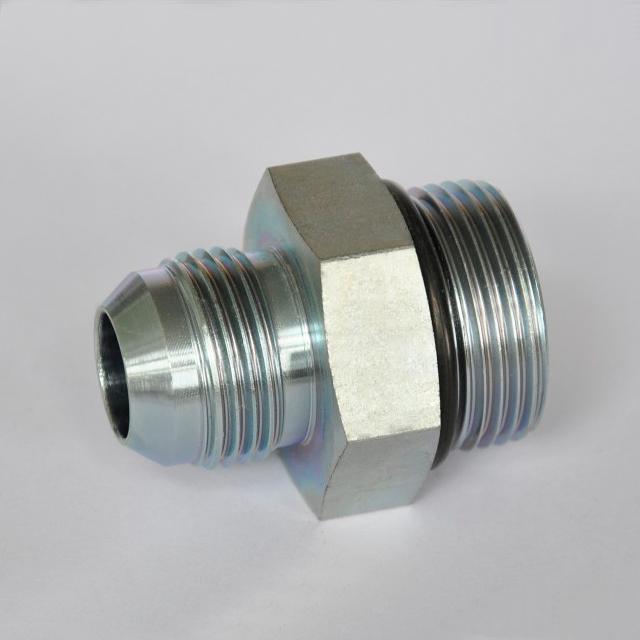 Straight thread connector flare tube end